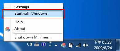 Minimen 1.3 - 隨 Windows 自動載入