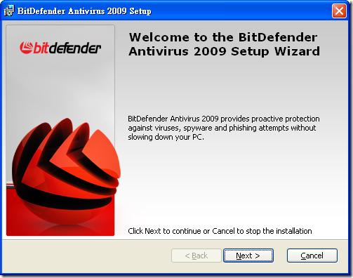 BitDefenderAntivirus2009.InstallScreen.01