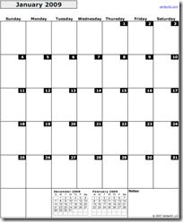 Calendar.2009.Monthly.Potrait