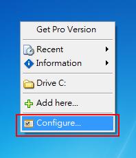 Direct Folders - 進入設定畫面