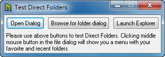 Direct Folders - 學習、測試程式
