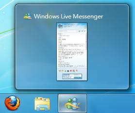 以相容模式執行的 Windows Live Messenger