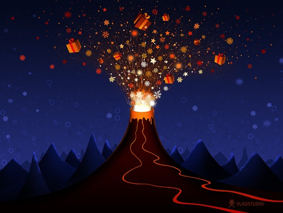 Christmas Volcano by ~vladstudio