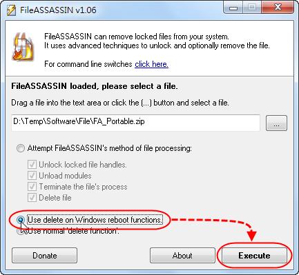 FileASSASSIN - 讓檔案在作業系統重新啟動時被刪除