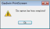 Gadwin PrintScreen - 完成擷圖