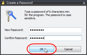 IOBit Random Password Generator - 設定主密碼