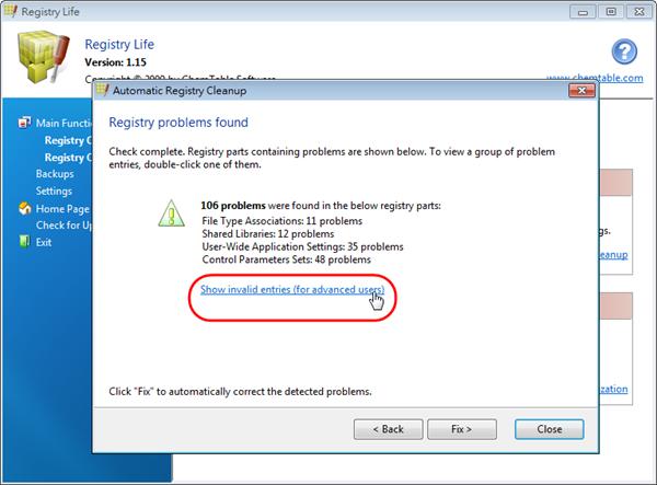 Registry Life - 顯示登錄檔問題