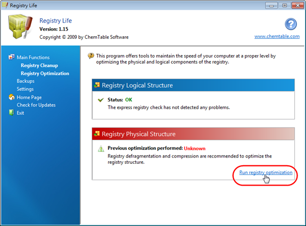 Registry Life - 登錄檔最佳化