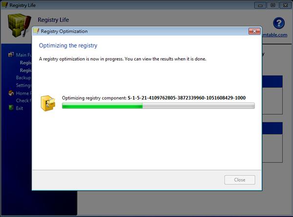 Registry Life - 登錄檔最佳化進行中…