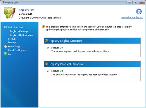 Registry Life - 登錄檔狀態 OK