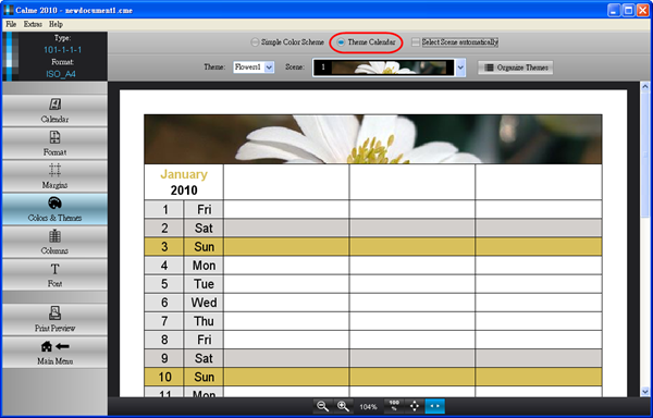 Calme 2010 - 主題式月曆(按圖放大)