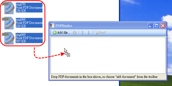 PDFBinder - 拖拽檔案