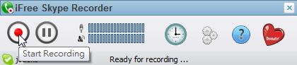 iFree Skype Recorder - 開始錄音