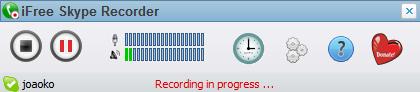 iFree Skype Recorder - 錄音中
