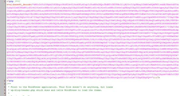 首次掛馬記 - 被插入的 Base64 編碼內容