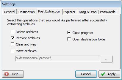 ExtractNow - 解壓後執行的動作