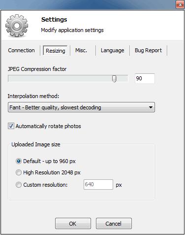 Easy Photo Uploader - 程式設定