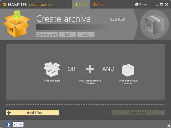 Hamster Free ZIP Archiver - 加入檔案準備壓縮