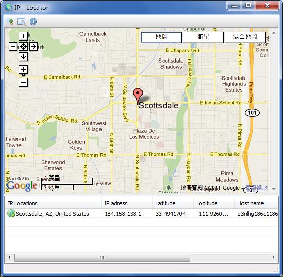 IP-Locator - 以 Google 地圖顯示 ip 位置