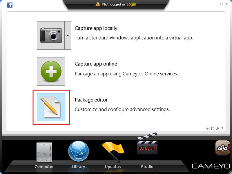 Cameyo - 可攜版軟體包編輯器