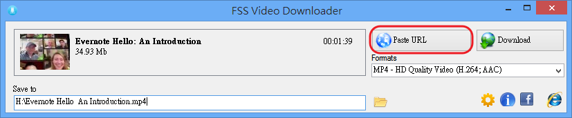 FSS Video Downloader - 貼上網址