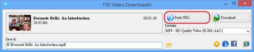 FSS Video Downloader - 貼上網址