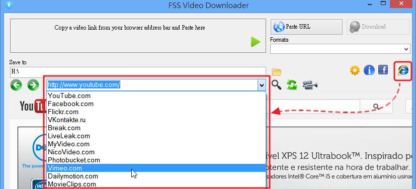 FSS Video Downloader - 使用內建瀏覽器