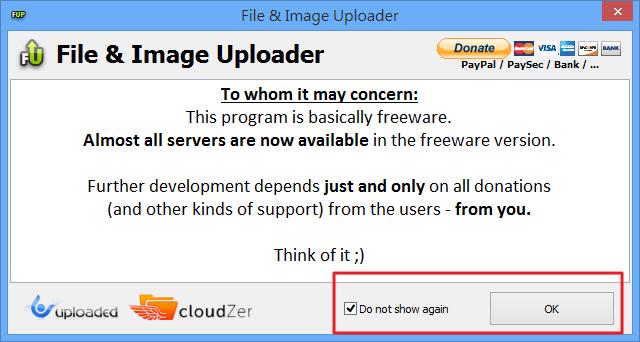 File  & Image Uploader - 贊助提示