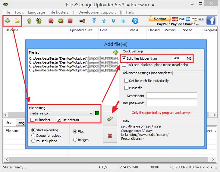 File  & Image Uploader - 加入要上傳的檔案