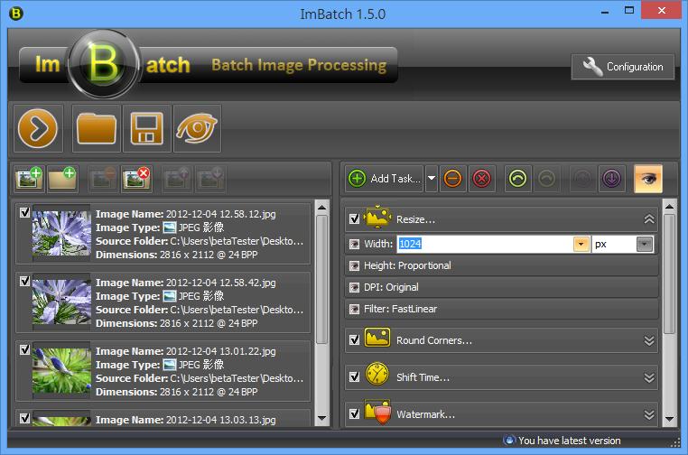 ImBatch - 設定任務細節