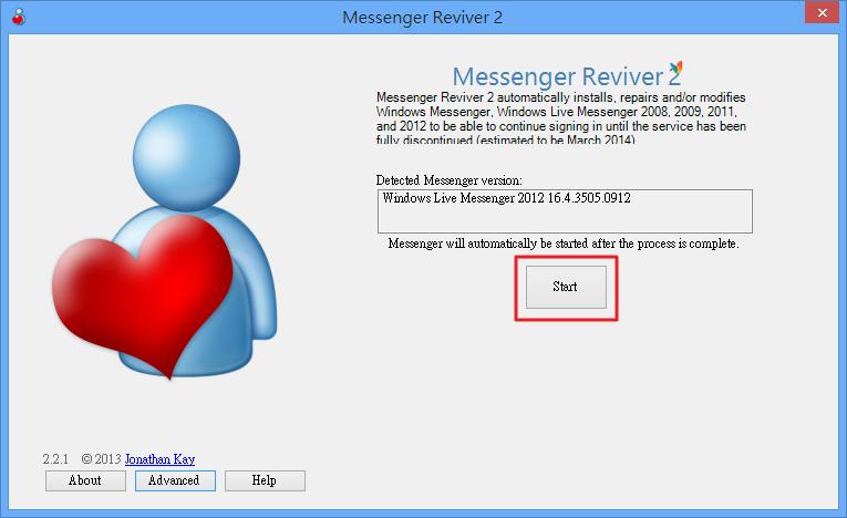 Messenger Reviver 2 - 修改已安裝的版本