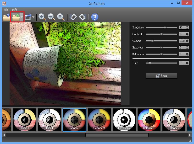 XnSketch - 儲存圖片