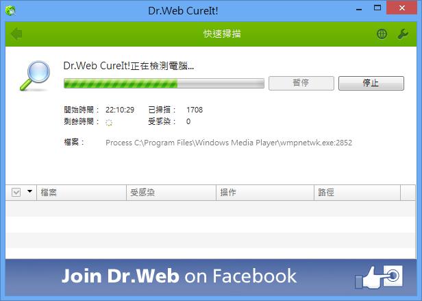 Dr.Web  CureIt! - 正在描掃