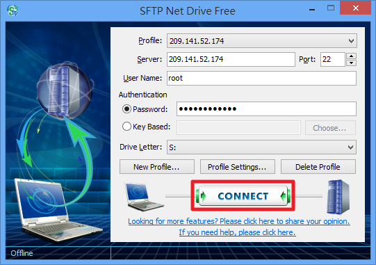SFTP Net Drive - 連線