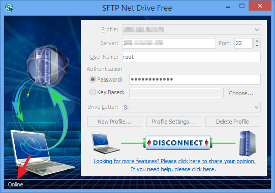 SFTP Net Drive - 連線成功