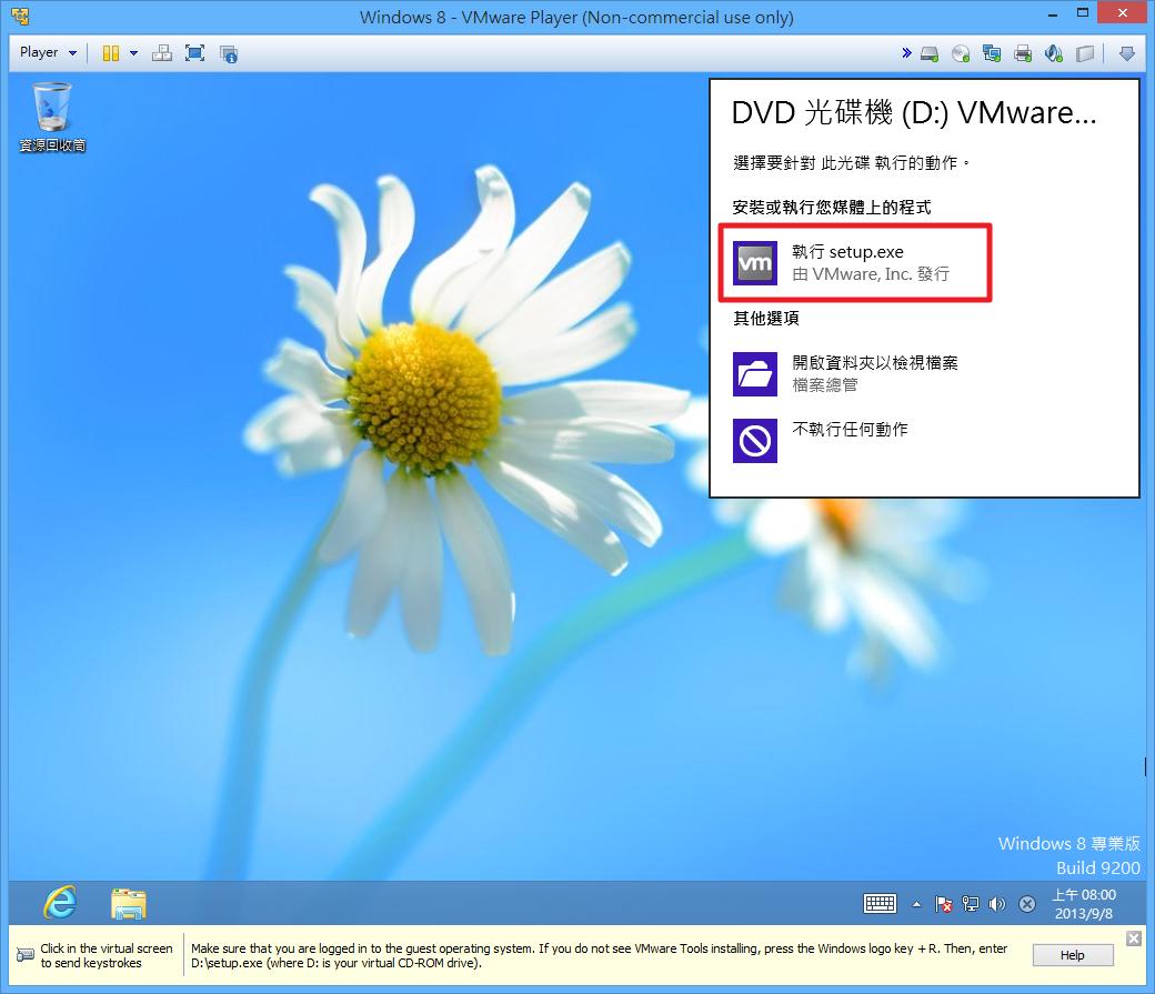 VMWare Player - 安裝 VMWare Tools