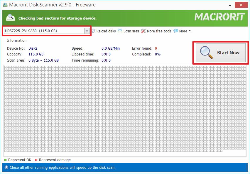 Macroit Disk Scanner - 開始掃描