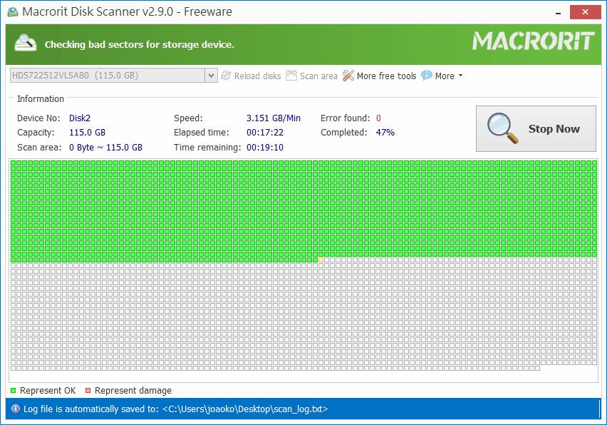 Macroit Disk Scanner - 掃描結果